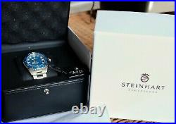 STEINHART OCEAN 39 SNOWFLAKE MARINE BLUE AUTOMATIC Full kit! Excellent Condition