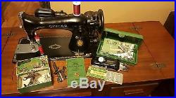 Singer 15-91 Heavy Duty Centennial Edition in Excellent Condition with cabinet