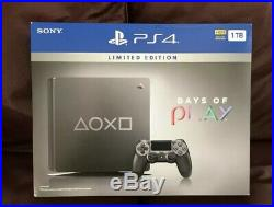 Sony PS4 Limited Edition'Days of Play' 1TB console Excellent Condition