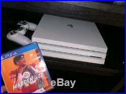 Sony PlayStation 4 Limited Edition Glacier White PS4 Pro (Excellent condition)