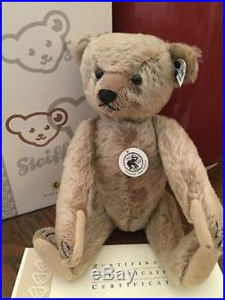Steiff TEDDY BEAR 1908 replica brown 32cm limited edition excellent condition