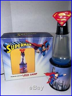 Superman Lava Lamp 2003 Premiere Edition Hand Numbered #2030 Excellent Condition