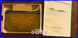 Used Rare Nintendo 3DS XL Zelda Hyrule Gold Edition Excellent Condition