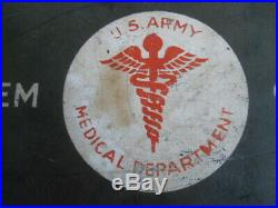WW2 US Army Medical First Aid Kit-Excellent Condition-Rare Version-Metal-24 Unit