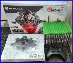 Xbox ONE X Gears Of War LTD Edition with 16 Games Excellent Condition + Warranty