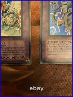Yugioh 1st Edition CRV Cyber End Dragon + Cyber Twin Dragon. Excellent Condition